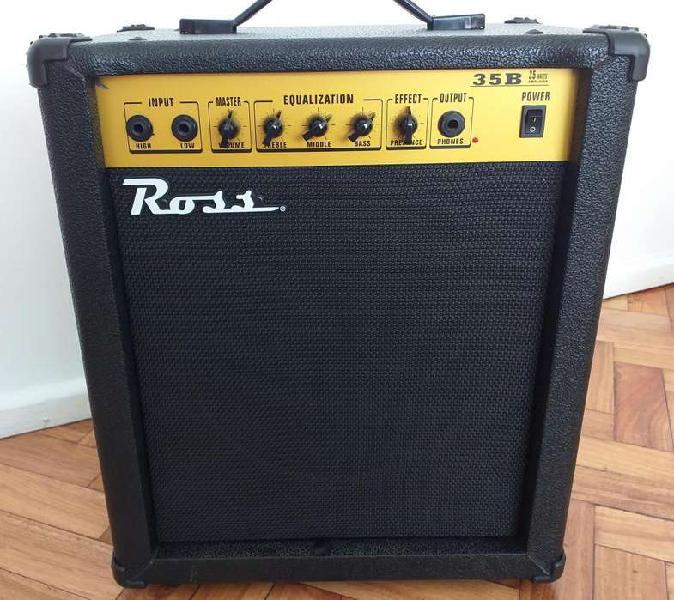 Amplificador de bajo... ross 35b... 35 watts.-