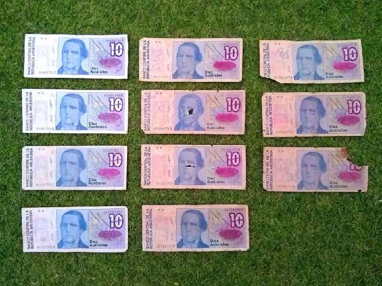 Billetes 10 australes
