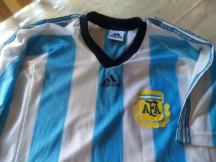 Camiseta argentina titular mundial francia 1998 como nueva
