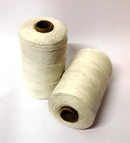 Hilo algodón de 3 hb 1mm 480gs tejer crudo nat. artesanias