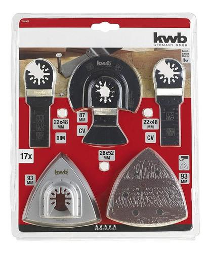 Kit set accesorios multicortadora oscilante total dewalt kwb