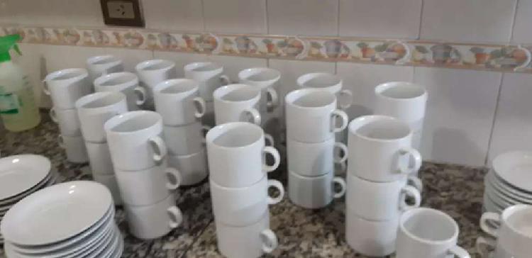 Lote de tazas desayuno ,cafe y cortado
