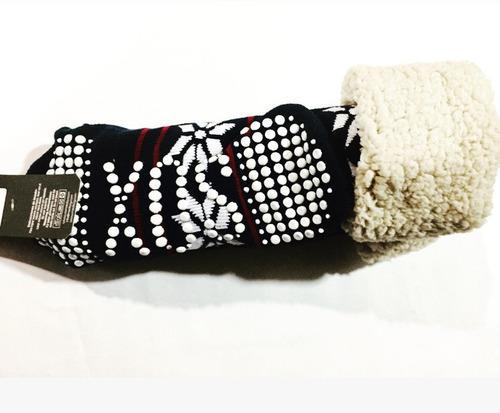 Medias pantuflas termicas interior corderito invierno hombre