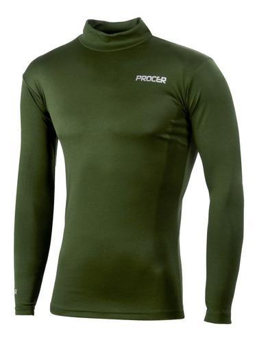 Remera térmica manga larga. procer® #539 verde