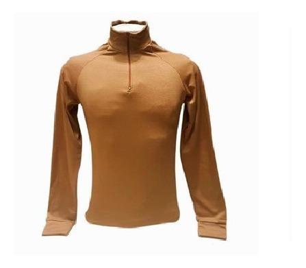 Remera térmica primera piel uca grillado marrón