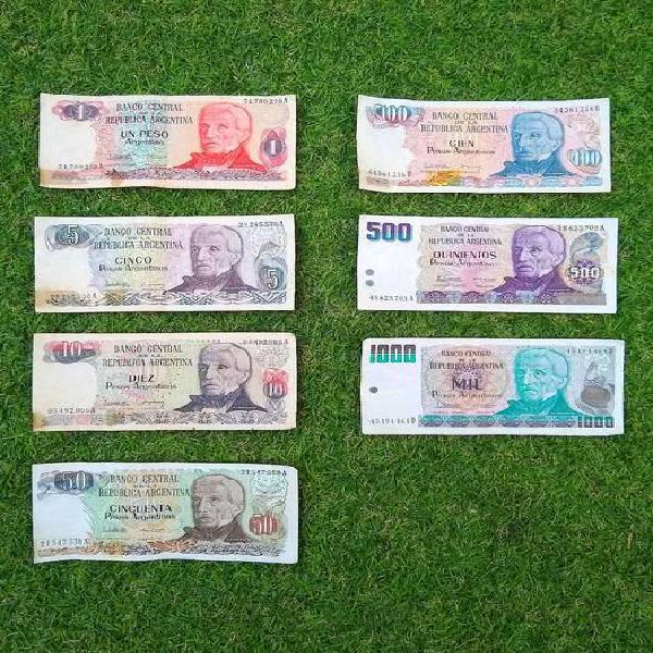 Serie completa gral. san martín billetes peso argentino
