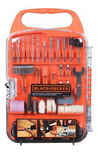 Set juego accesorios minitorno 175 piezas black decker