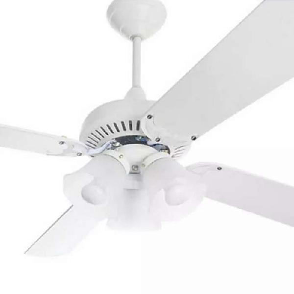 Vendo ventilador de techo blanco con 5 luces
