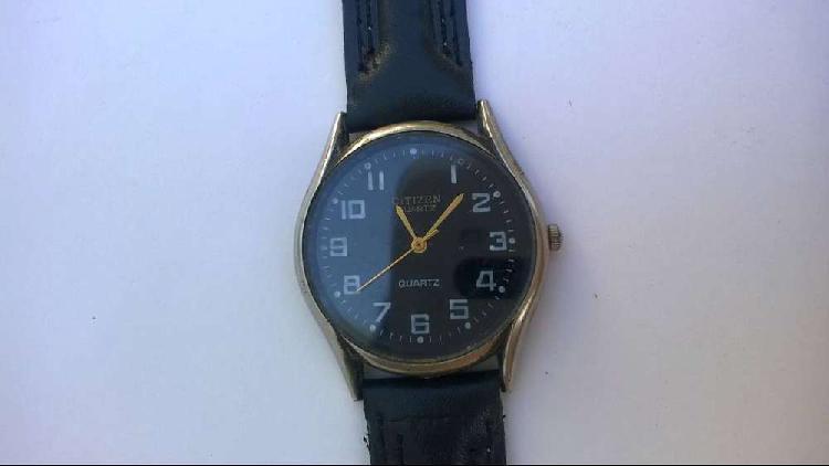 Reloj citizen cuadrante negro máquina miyota unisex