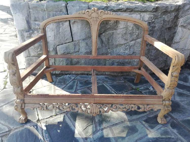 Sillón antiguo estilo ingles chippendale ( estructura /