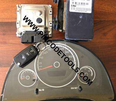 Set completo de inyeccion de vw up ecu bosch me17.5.24