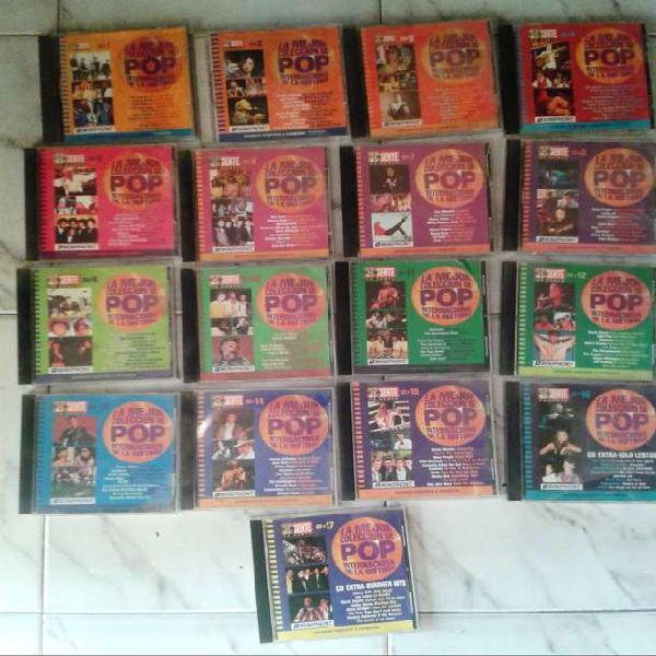 Coleccion de 59 cd de música de interpretes varios