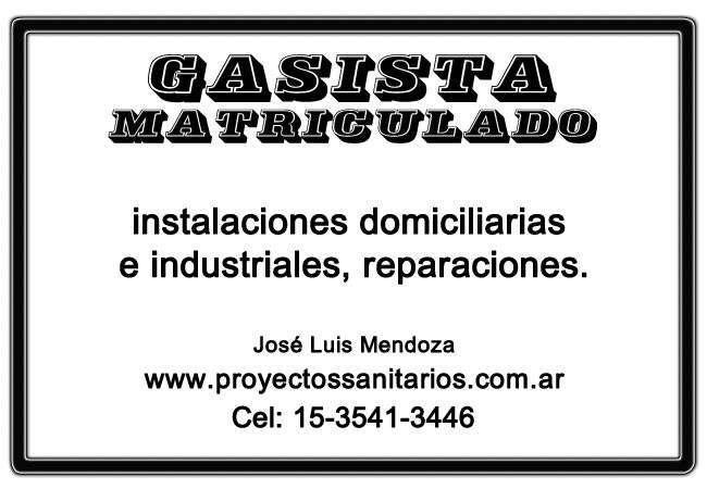 Instalaciones sanitarias y de gas, servicios contra