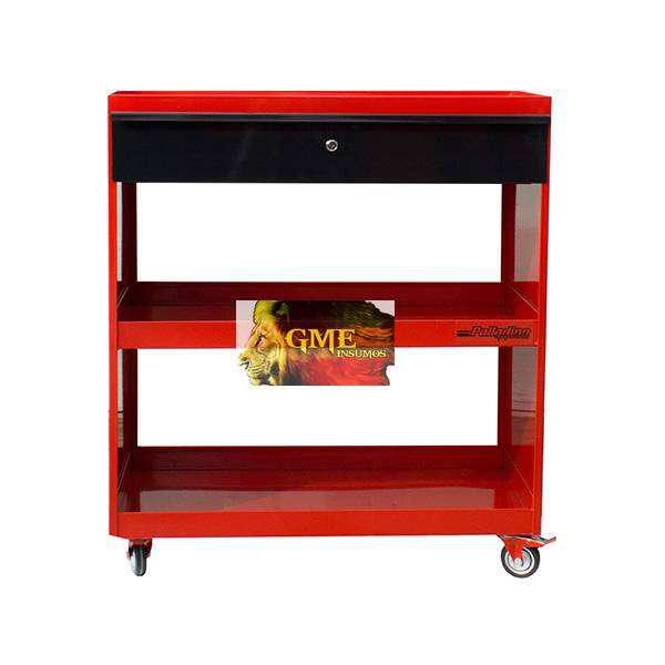 Mesa 3 estantes con cajón