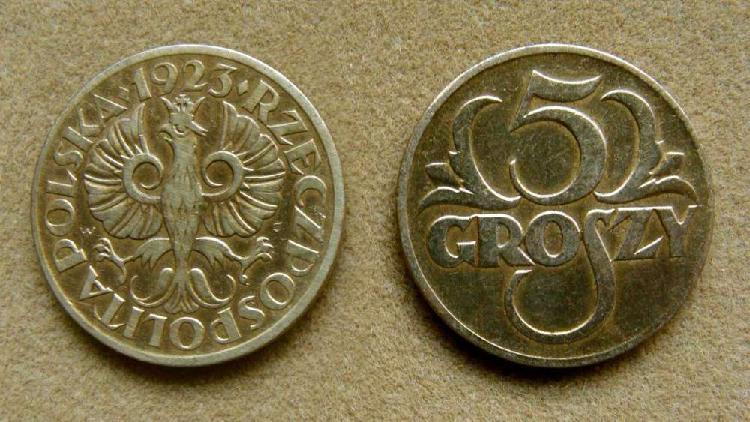 Moneda de 5 groszy polonia 1923