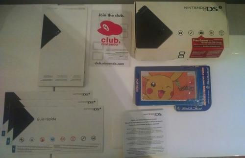 Nintendo dsi + estuche + lapiz + skin + caja y manuales