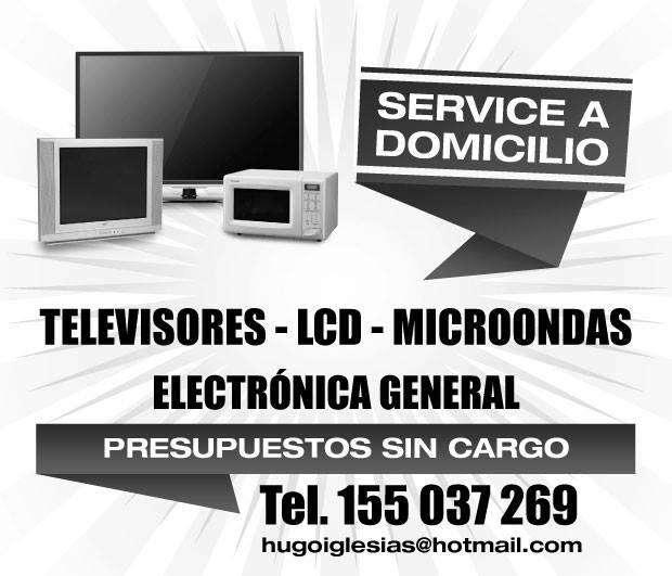 Service de television, lcd, microondas etc. a domicilio en