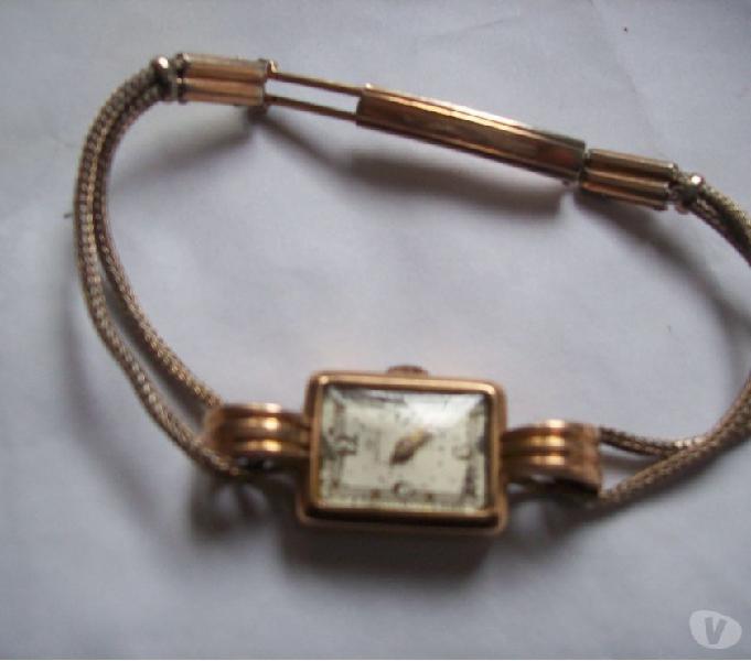 Vdo reloj pulsera bañado antiguo