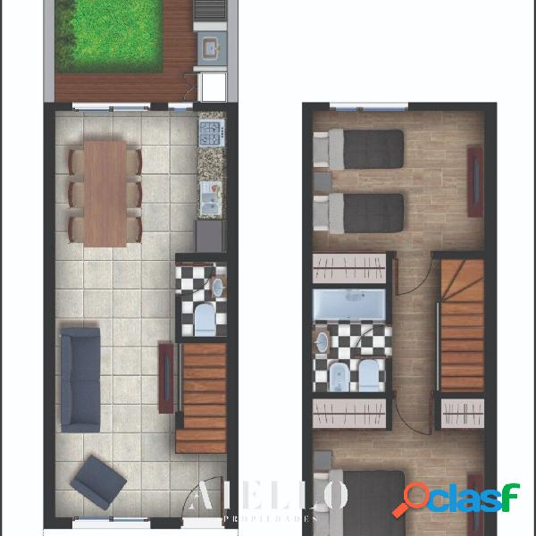 Duplex 3 amb. A estrenar. Cochera. U$S 115000 2