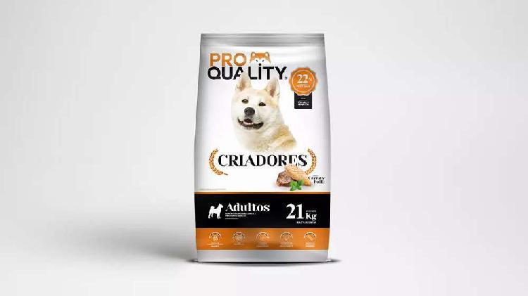 Alimentos balanceados y premium. línea pro quality