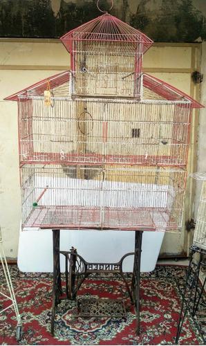 Jaula jaulón pajarera casa grande - mueble antiguo- rgbiz