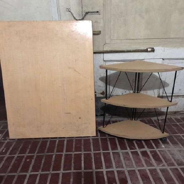 Mesa madera aya + esquinero
