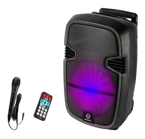 Parlante karaoke 12 portatil bluetooth microfono led
