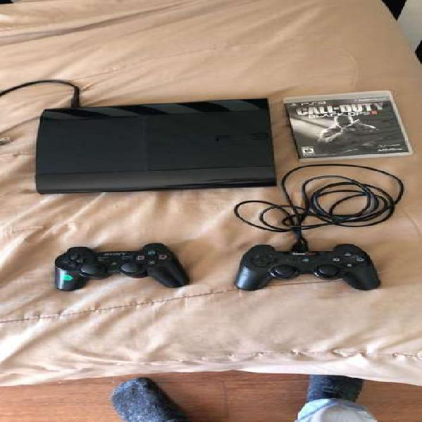 Ps3 ultra slim 500gb impecable + 5 juegos y dos controles
