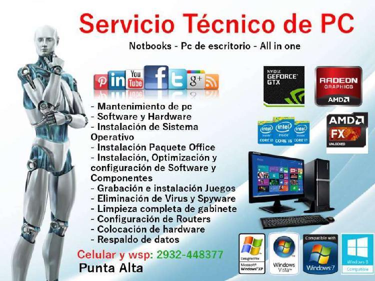 Servicio tecnico pc - tablets y celulares
