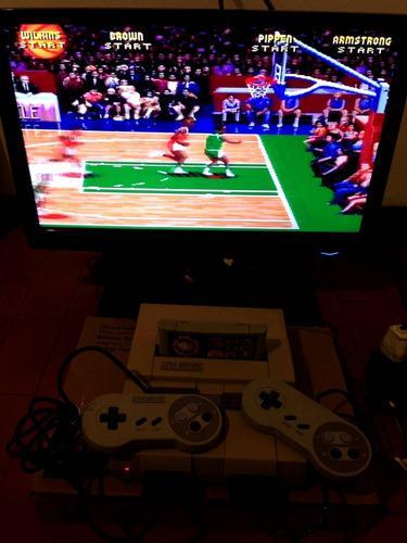 Super nintendo consola snes retro vintage 2 joystick