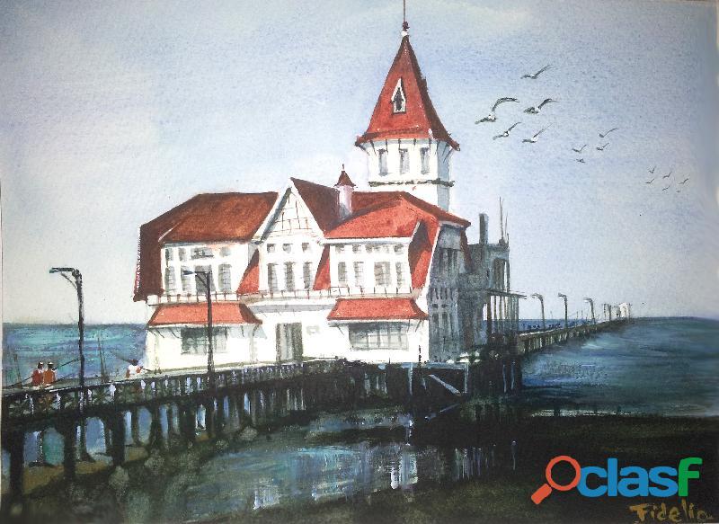 Pintura a la acuarela original de mi autoria (35x25cm) a68