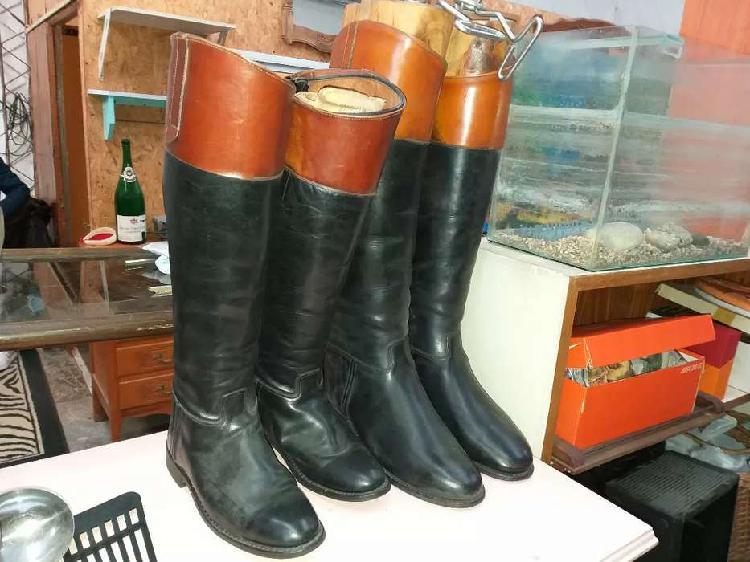 2 pares botas equitación cuero 35/36 y 38/39 escucho