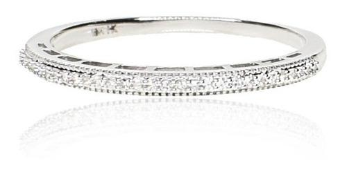 Anillo medio sin fin oro blanco diamantes - free watch