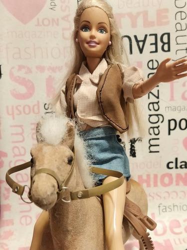 Barbie equitación con caballo/campesina +varios cambios