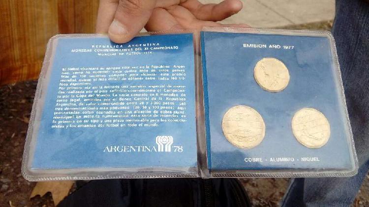 Blister con monedas mundial 1978