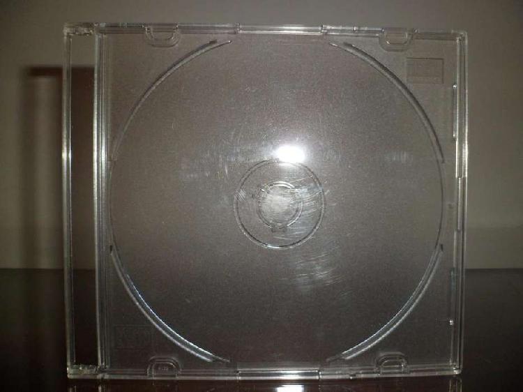 Cajas acrílicas para cd slim transparentes