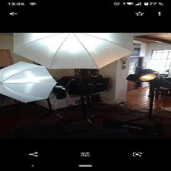 Flash de estudio kit x3 de 300w visico