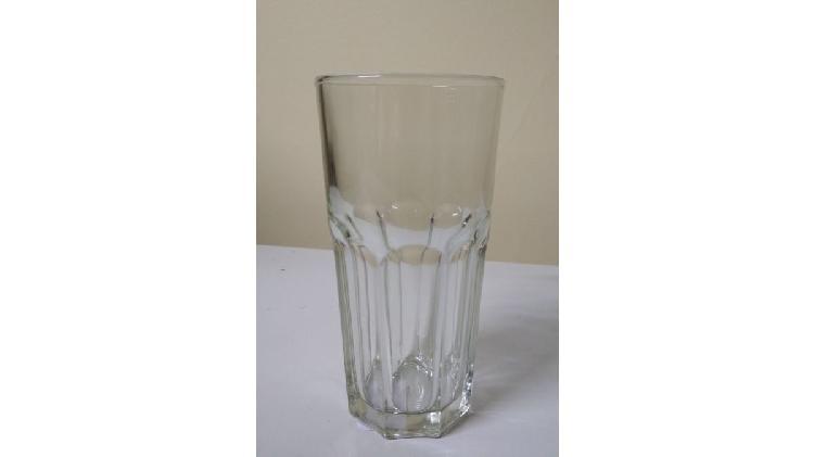 Vaso de vidrio facetado trago largo 330ml marca durax nuevos