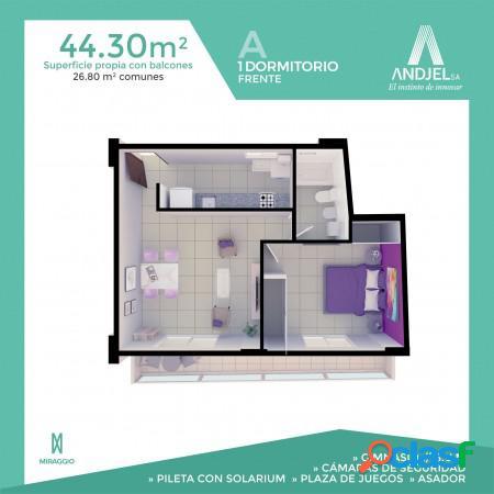 1 dormitorio a - edificio miraggio