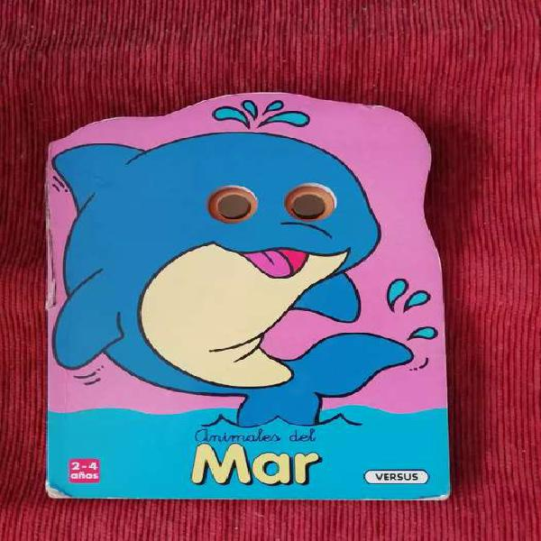 Animales del mar libro infantil con troqueles y ojos