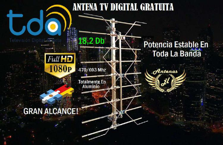 Antena tv digital gratuita, tecnologia alemana, la mejor. tu