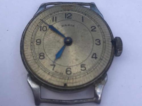 Antigua maquina de reloj basis-hermoso diseño. a reparar
