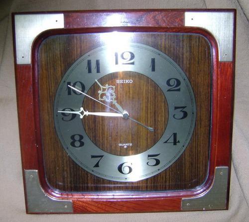 Antiguo reloj pared seiko quartz a reparar - no envío