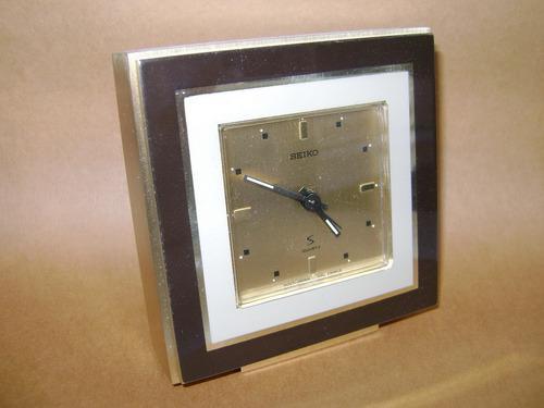 Antiguo reloj seiko mesa oficina caja francesa - no envío