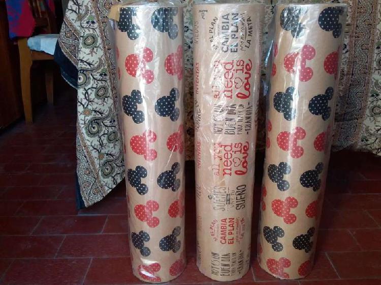 Bobina rollo papel kraft madera 60 cm por 230 mts aprox