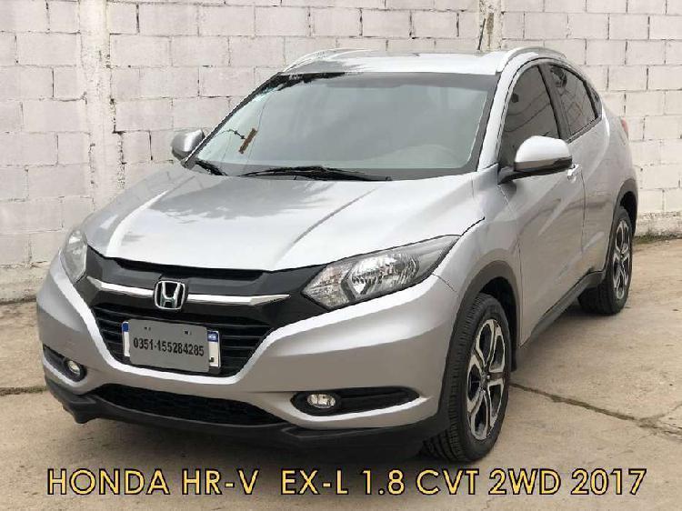 Honda hr-v ex-l 1.8 cvt 2017 * financio * recibo menor *