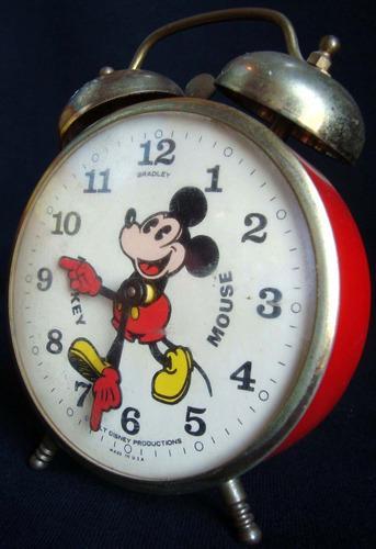 Juguete antiguo despertador mickey mouse disney usa. 10319