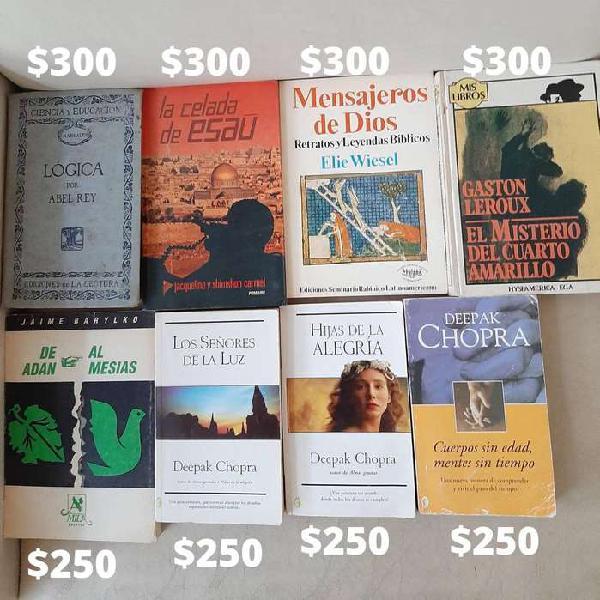 Libros usados en buen estado, precios en las imágenes