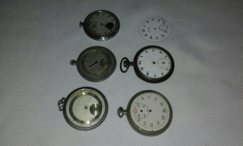 Lote de antiguos relojes de bolsillo para repuestos
