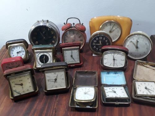 Lote relojes despertadores antiguos - no funcionan! deco!